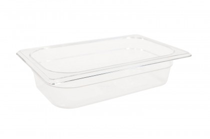"Rubbermaid 1/4 Size Clear Food Pan - 2 1/2"" Deep"